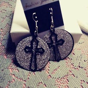 Jewelry - Glitter Disk Earrings